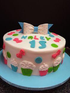 Blue Birthday Cake Tonia