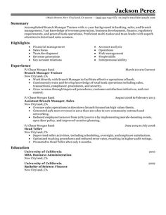 Sales Management Trainee Resume - Experts' opinions