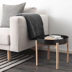 IKEA - YPPERLIG, Coffee table, dark gray, birch, Solid birch is a durable natural material. The included plastic feet protect the floor from scratches. Four plastic feet to protect the floor against scratches included. For indoor use. Ikea X Hay, Ypperlig Ikea, Ikea Furniture, Furniture Design, Hay Design, Design Ideas, Liatorp, Ikea Family, Table Storage