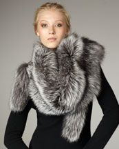 in love with this sofia cashmere fox stole