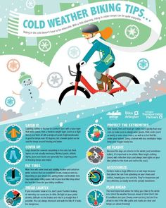 For all our alternative transportation commuters: Cycle this winter with these cold weather biking tips.