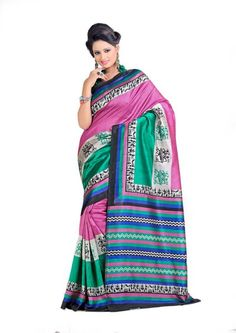 Miraan Art Silk Printed Saree SDE5127
