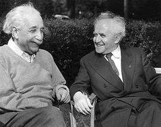 "This photo, taken in 1951, shows Prime Minister David Ben-Gurion sitting next to Albert Einstein. In 1952, Ben-Gurion offered the position of President of Israel to Einstein. The offer was presented by Israel's ambassador in Washington, Abba Eban, who explained that the offer ""embodies the deepest respect which the Jewish people can repose in any of its sons"". However, Einstein declined, and said that he was ""deeply moved"", and ""at once saddened and ashamed"" that he could not accept it."