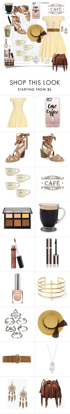 """Love & Coffee"" by sixela14 ❤ liked on Polyvore featuring Alexander McQueen, Casetify, Kenneth Cole, Magenta, Anastasia Beverly Hills, Givenchy, BauXo, Dorothy Perkins, Lucky Brand and Boohoo"