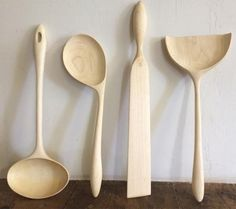 Hand Carved Kitchen Tools from Black Creek Mercantile & Trading Co.