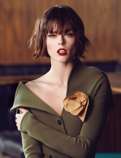 + the Haircut...   coco-rocha-by-andrew-soule-for-flare-november-2014