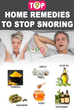 Top 9 Home Remedies to Stop Snoring..