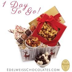 Last Day to Ship in time for Christmas! Next Day Shipping to CALIFORNIA addresses only $5.99* Shop now: http://bit.ly/1uOuW2c #chocolates #chocolatebasket #basket #christmasbasket #xmas #holidays #caramelpopcorn #beverlyhills #losangeles