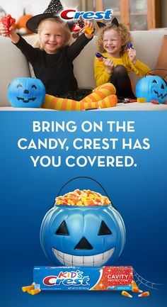 After all the treats, Crest is every parent's trick to keeping their smiles shining. Kid's Crest Cavity Protection has fun sparkles and a bubblegum flavor they'll love – so bring on the Halloween candy! Learn crafty do it YOURSELF art! Home Crafts, Crafts For Kids, Kids Diy, Cavities In Kids, Christmas Crafts, Christmas Decorations, Halloween Decorations, Body Jewelry Shop, Pumpkin Decorating