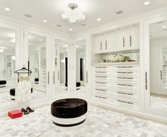Cabinetry with inset mirror