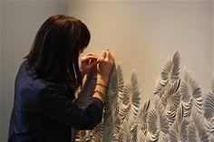 Helen Amy Murray Plaster Art, Fabric Embellishment, Pillow Inspiration, Process Art, Fabric Manipulation, Material Design, Wall Sculptures, Wall Wallpaper, Fabric Art