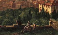 Thomas Cole: View of Florence from San Maniato. Detail. 1837. Oil on canvas.