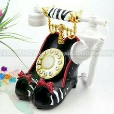 Vintage Phones, Vintage Telephone, High Heels Stilettos, High Heel Boots, Phones Shoes, Antique Phone, Retro Phone, Home Phone, Landline Phone