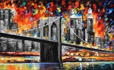 BROOKLYN BRIDGE-deal of the day. Mixed media oil on canvas/limited edition giclee on canvas by L.Afremov https://afremov.com/BROOKLYN_BRIDGE-Mixed-media-oil-on-canvas-and-limited-edition-giclee-On-Canvas-By-Leonid-Afremov-Size-40X24.html?bid=1&partner=20921&utm_medium=/offer&utm_campaign=v-ADD-YOUR&utm_source=s-offer