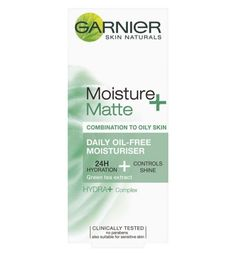Moisturiser || Moisture + Matte- Daily Oil-Free 24H Hydration & Controls Shine (Green Tea Extract) for Combination to Oily Skin