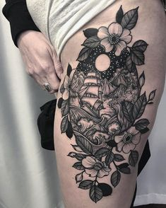 by Kyle Stacher - Tattoo Designs Cover Up Tattoos For Women, Tattoos For Women Half Sleeve, Full Sleeve Tattoos, Large Tattoos, Cute Tattoos, Beautiful Tattoos, Body Art Tattoos, Tatoos, Tattoos Pics
