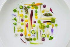 Micro-verduras con Infusión de verduras de Javier Cabrera