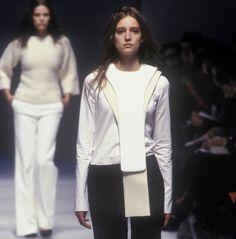 balenciaga autumn/winter 1999 New Fashion, High Fashion, Third Gender, Sports Luxe, Faux Leather Jackets, Vintage Tees, Passion For Fashion, Balenciaga, Fall Winter