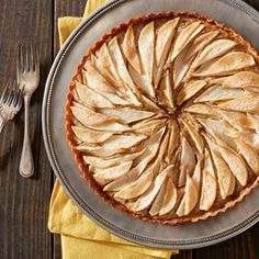 Pear and Hazelnut Frangipan Tart