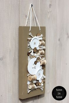 H.O.M.E. #Dress #Up #Your #Door or #Wall with this #DIY #nature #white #sewing #handmade #interior #decoration | by toneintone Bottle Opener, Sewing, Decoration, Interior, Wall, Nature, Handmade, Diy, Dress