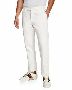 19bc59b82e9 Ermenegildo Zegna Designer Men s Casual Cotton Linen Trousers
