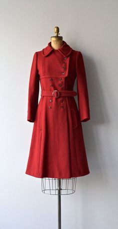 Junior Gallery coat vintage 70s red coat 1970s by DearGolden