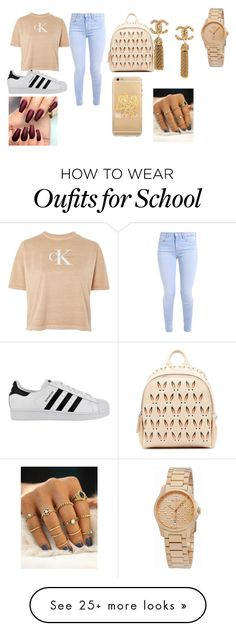 """""""Monday get ready to go to school!"""" by kelly-destiny on Polyvore featuring Calvin Klein, adidas, MCM and Gucci"""
