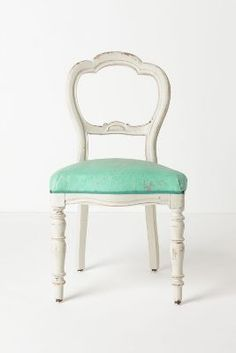 Vintage white chair :: but with yellow seat