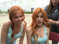 Two Clarys!! Kat and stunt double xx