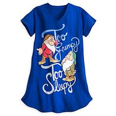Disney Grumpy and Sleepy Nightshirt for Women   Disney StoreGrumpy and Sleepy Nightshirt for Women - Heigh-Ho, it's home from work you'll go to get a good night's rest in this oversize, soft and comfy nightshirt featuring Snow White's dreamiest dwarfs: Grumpy and Sleepy.