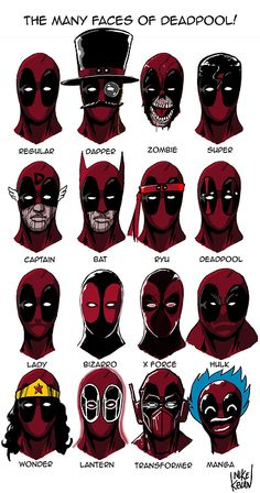 The Many Faces of Deadpool