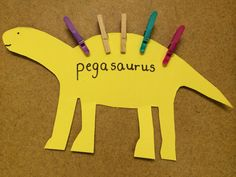 A Pegasaurus! Practising fine motor skills during dinosaur topic for EYFS / early years / Nursery / Reception