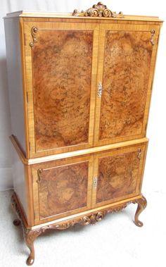 Burr Walnut Cocktail Cabinet