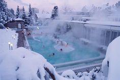 Outdoor salt water spa  St. Gallen, Switzerland