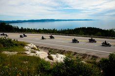Hwy 17 East of Thunder Bay Ontario Canada, Ride Lake Superior