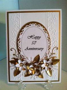 Happy 50th Anniversary by lauriejack - Cards and Paper Crafts at Splitcoaststampers