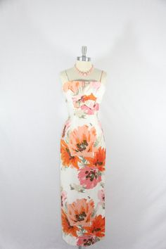 1960s Vintage Dress   MARDI GRAS Long by VintageFrocksOfFancy, $240.00
