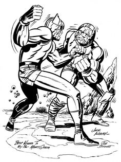 Orion vs Darkseid, Jack Kirby
