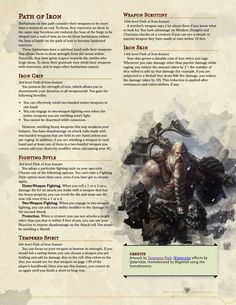 Dungeons And Dragons Rules, Dungeons And Dragons Classes, Dungeons And Dragons Characters, Dungeons And Dragons Homebrew, Dnd Characters, Character Creation, Fantasy Character Design, Character Ideas, Barbarian Dnd