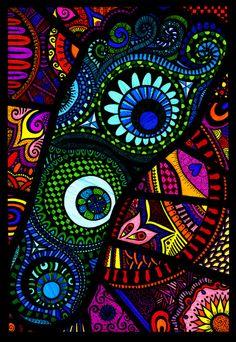 Zentangle - Colourful