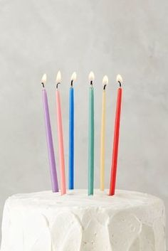 Beeswax Birthday Candles Happy Girl Cake Parties 25th