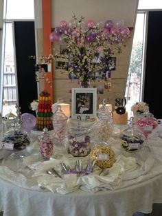 A Candy Buffet Is Sweet Idea For 80th Birthday Party Favors See More Favor