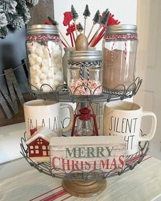 christmas decorations Easy DIY Indoor Christmas Decor and Display Ideas, Ways To Decorate Your Tiered Tray For Christmas, Kitchen Counters, or Fireplace Mantle Decorating, Christmas Decor Christmas 2019, Christmas Home, Christmas Holidays, Merry Christmas, Christmas Wreaths, Christmas Crafts, Christmas Ideas, Elegant Christmas, Christmas Inspiration