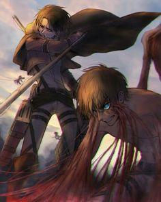 Eren Jaeger x Levi Ackerman_Attack on Titan_Shingeki no kyojin Armin, Mikasa, Eren Y Levi, Manga Anime, Film Manga, Fanarts Anime, Anime Meme, Anime Characters, Attack On Titan Hoodie