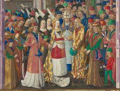 Titre : « Le Livre des faiz monseigneur saint Loys », composé à la requête du « cardinal de Bourbon » et de la « duchesse de Bourbonnois ». Date d'édition : 1401-1500 Français 2829 folio 75v