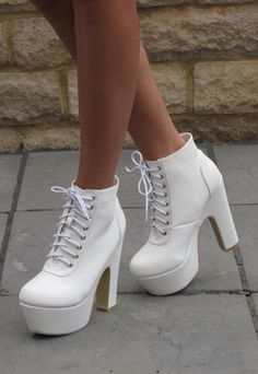 White boot heels | Heels | Pinterest | Bootie Heels, Nurse Costume ...