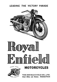 Royal Enfield Motorcycles: Leading the Victory Parade http://www.walls360.com/motorcycles-wall-graphics-s/1856.htm