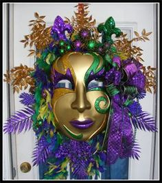 Luxury Mardi Gras Wreath by Petal Pusher's Wreaths & Designs!!