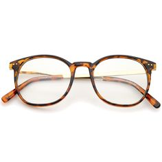 - Description - Measurements - Shipping - Perfect for everyday wear, these sophisticated eyeglasses are constructed with a slim horn rimmed frame and metal high sitting temples. Complete with round cl                                                                                                                                                                                 More