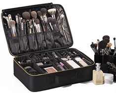 "Amazon.com: ROWNYEON Portable EVA Makeup Case-Professional 14.6""/ Makeup Brush Sets / Make Up Artist Organizer Bag: Clothing"